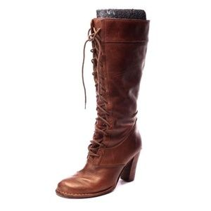 FRYE villagerlace villager lace knee high lace 10